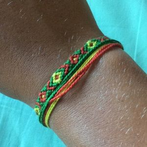 Yellow, Green and Red Bracelet Set